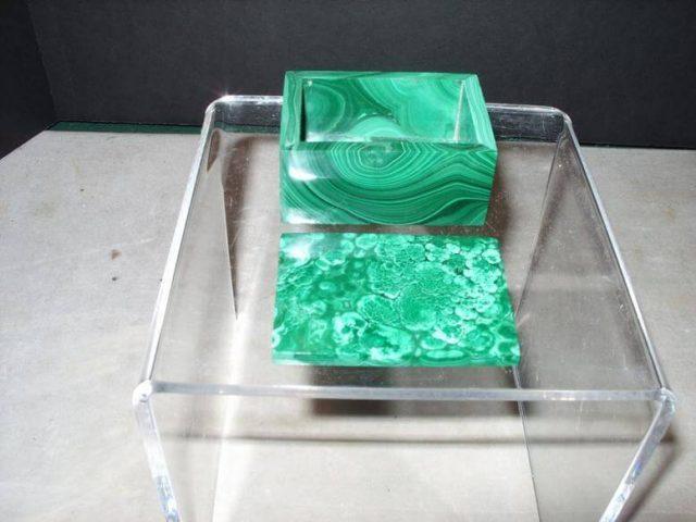 Beautiful Natural Polished Malachite Box